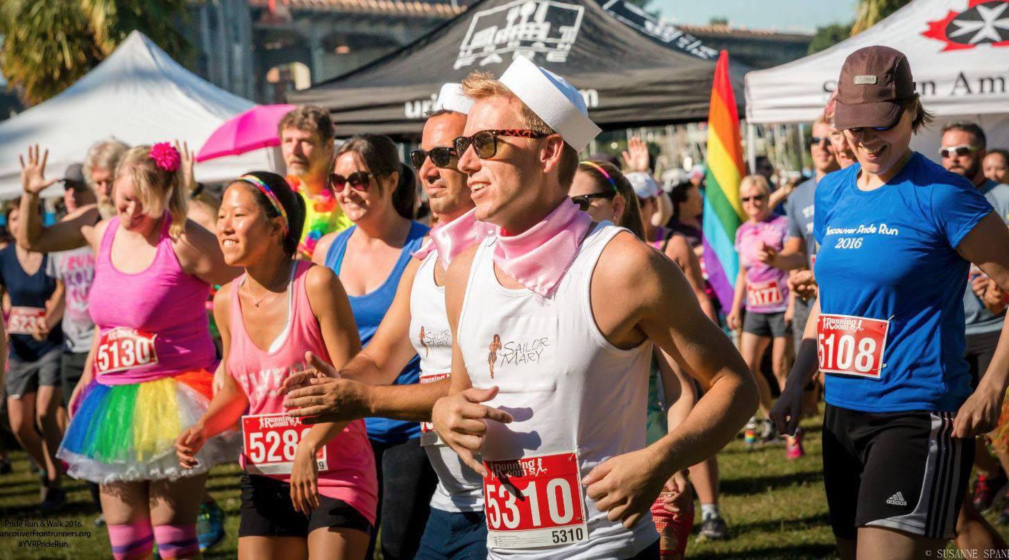 Runners at pride run walk 2016 vancouver frontrunners facebook