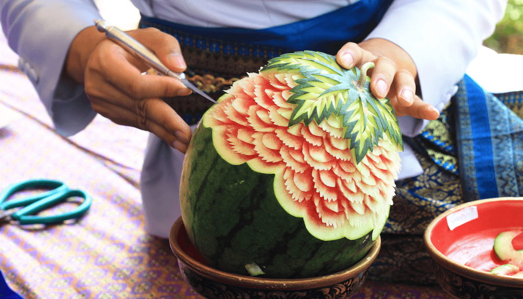Thai fruit carving (Skynavin/Shutterstock)