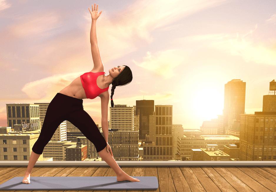 Rooftop Yoga (Oliver Denker/Shutterstock)