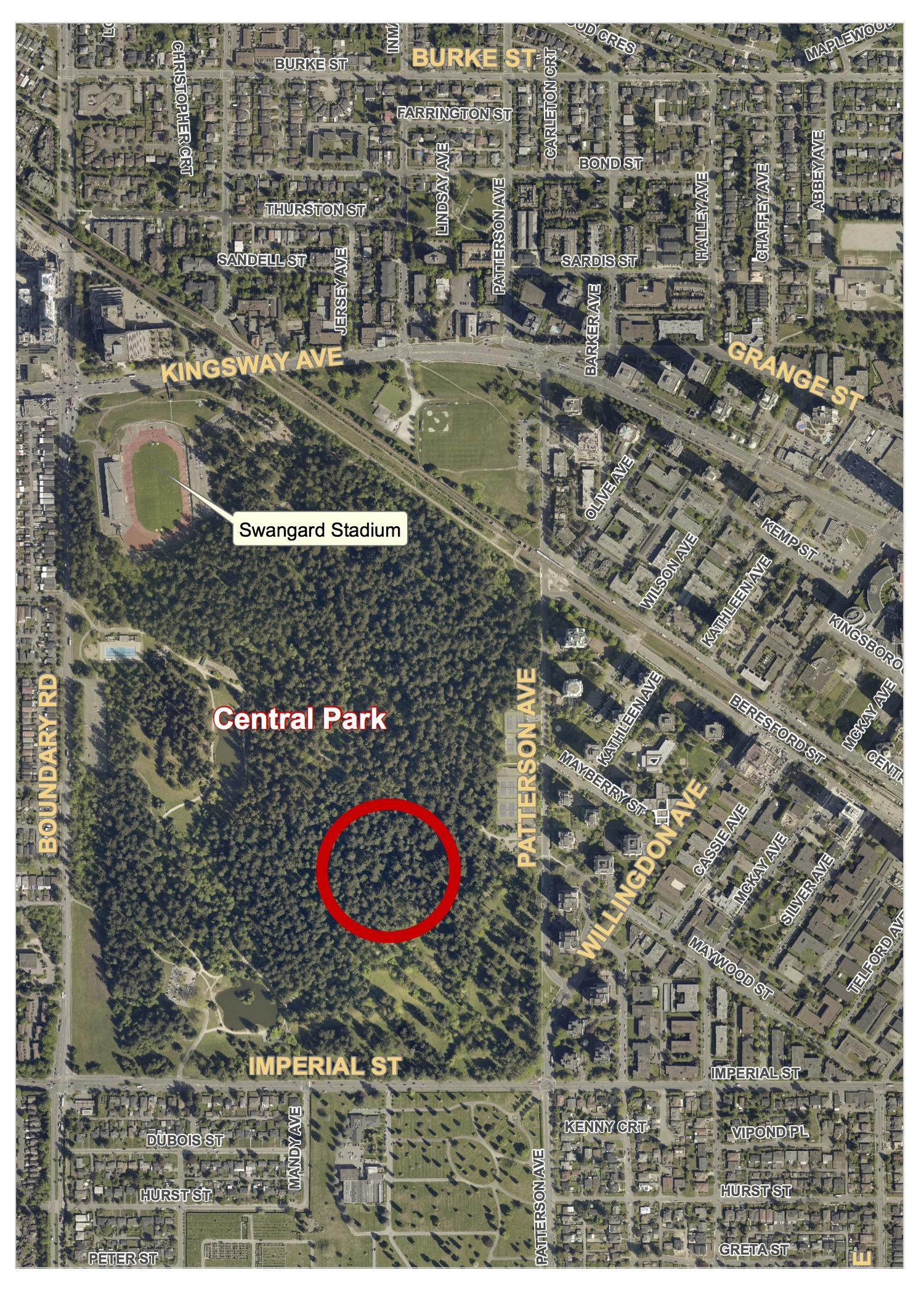 This map shows where Marissa Shen's body was found (IHIT)