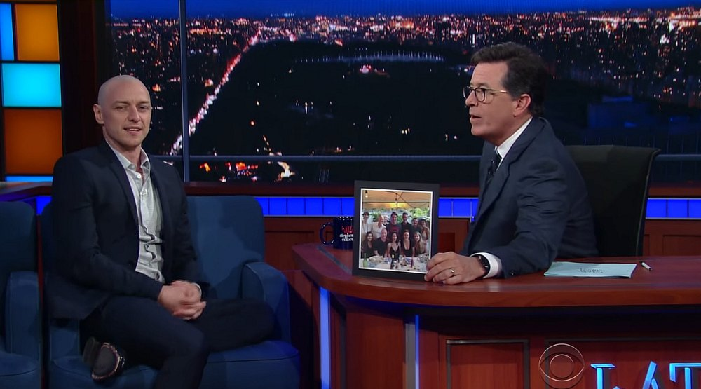 James McAvoy tells Colbert what it was like to meet Justin Trudeau (VIDEO)