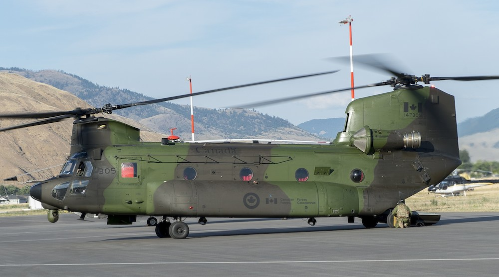 Canadian armed forces helicopter