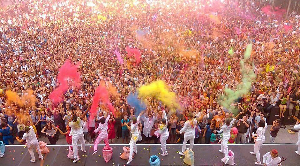 Get splashed with colour all weekend at this Montreal celebration