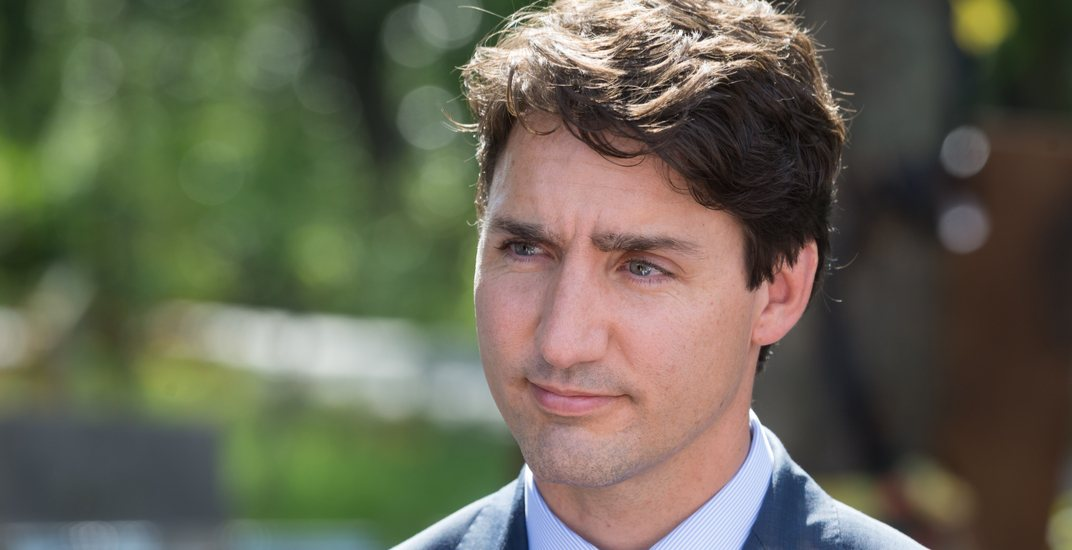 Justin trudeau during an official visit to kiev ukraine drop of lightshutterstock