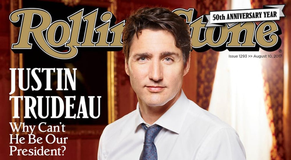 Trudeau becomes first Canadian PM to appear on cover of Rolling Stone