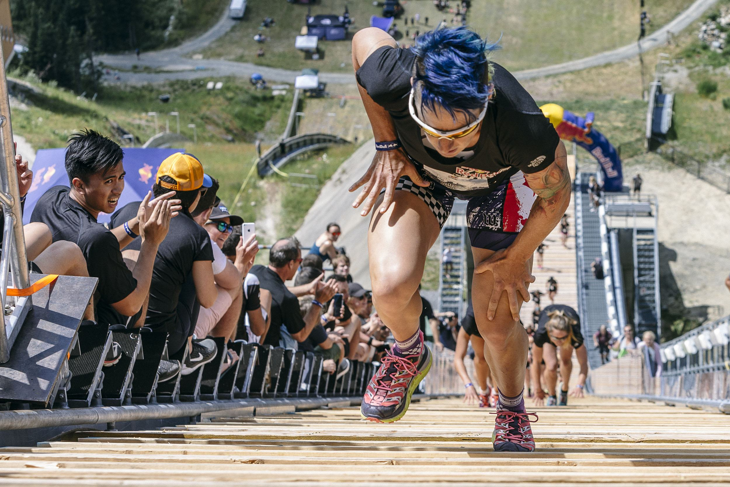 Rachel McBride leads the women to a first place finish at Red Bull 400 in Whistler, Canada on July 30, 2016 (Scott Serfas/Red Bull Content Pool)