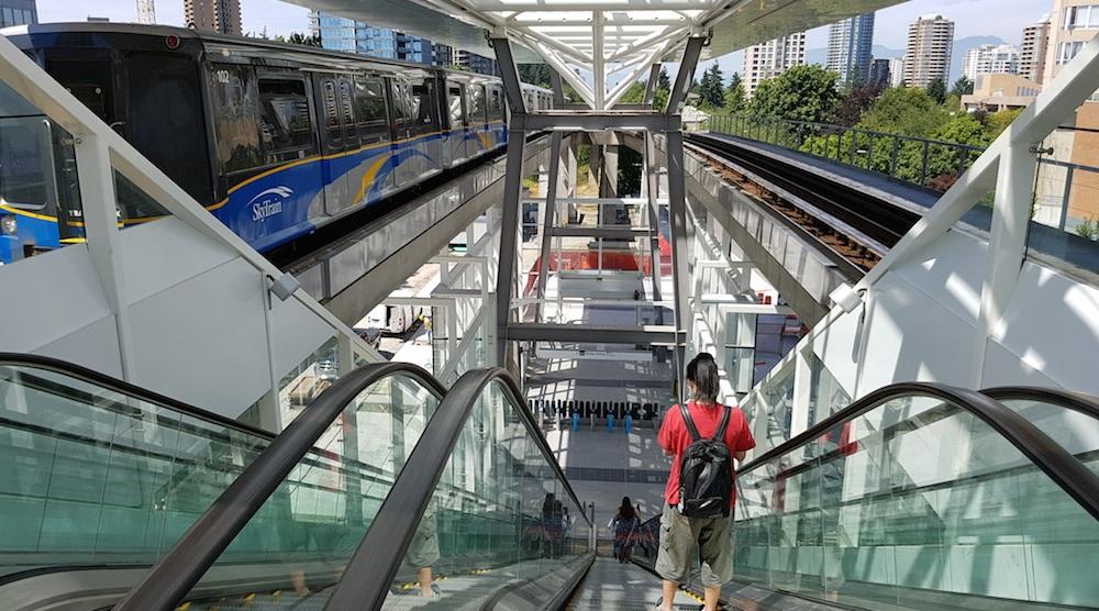 Metrotown station escalator