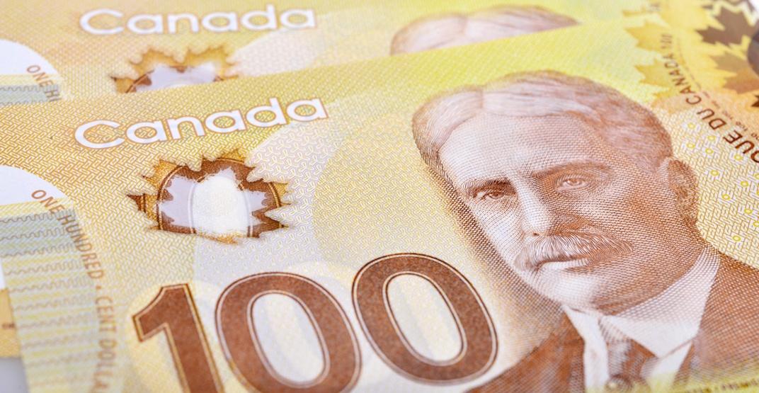 Canadian 100 dollar bill shutterstock