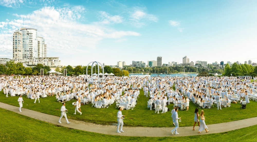 You can enjoy French cuisine, wine, and more at Dîner en Blanc Vancouver