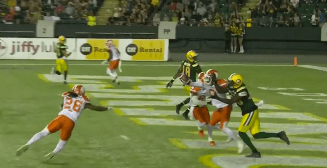 Bogus video replay decision costs BC Lions in Edmonton (VIDEO)
