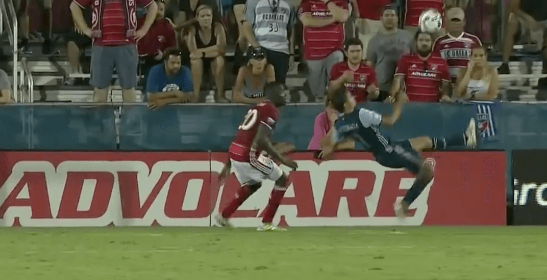 Spectacular bicycle kick goal tops off historic win for Whitecaps in Dallas (VIDEO)