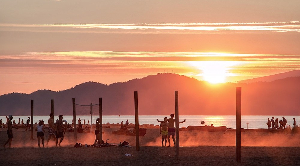 Spanish banks vancouver beach sunset