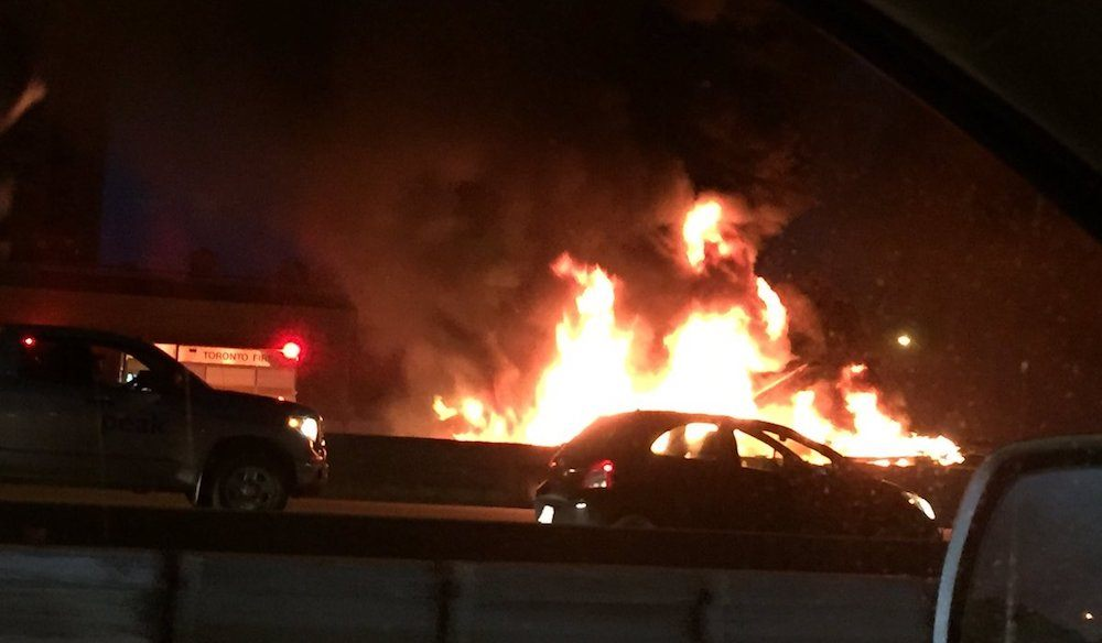 Parts of highway 401 eastbound remain closed after fatal accident