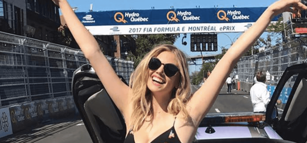 Model Kate Upton spotted at Formula E this weekend (PHOTOS)