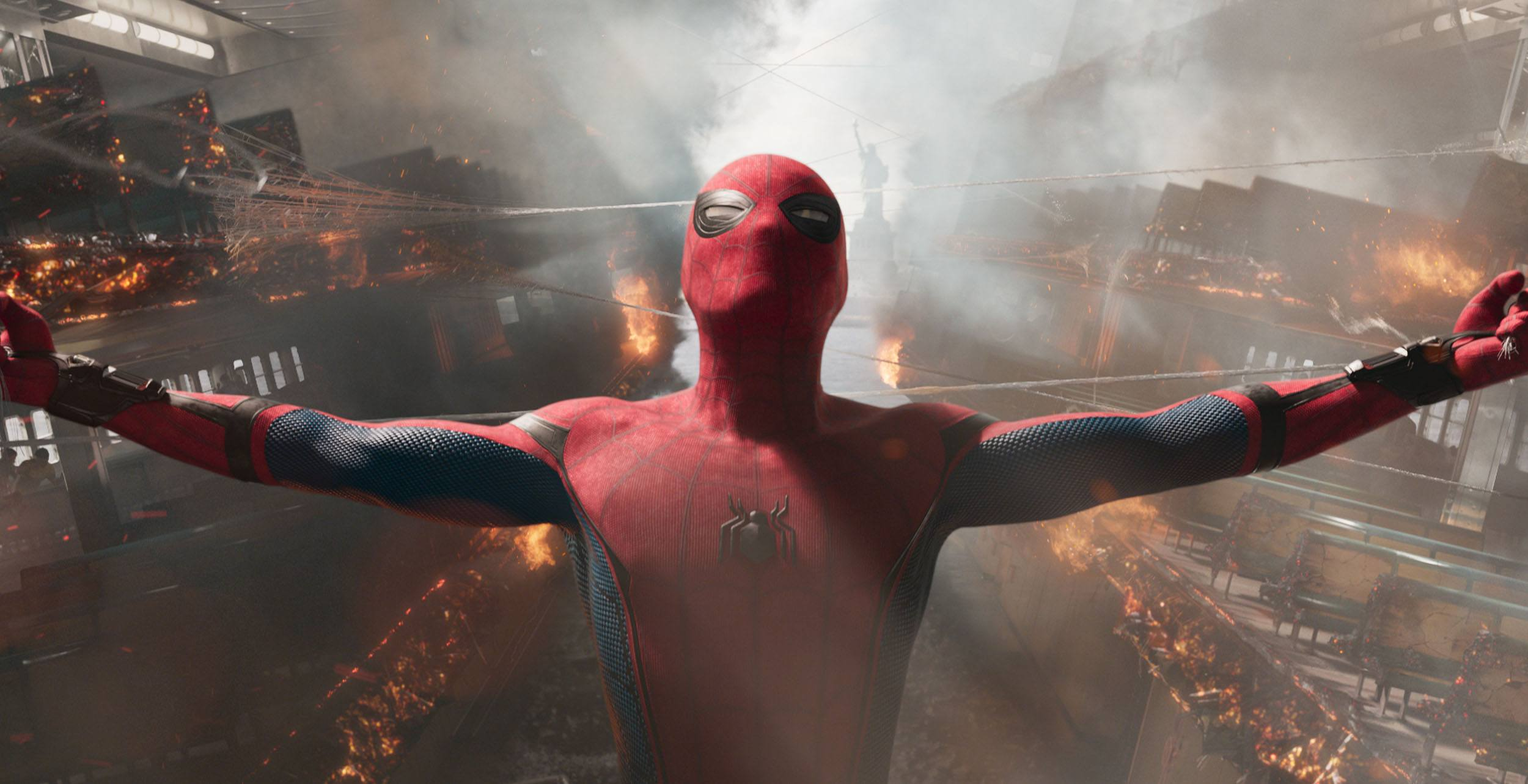 A frame from spider man homecoming feature columbia pictures via digital domain