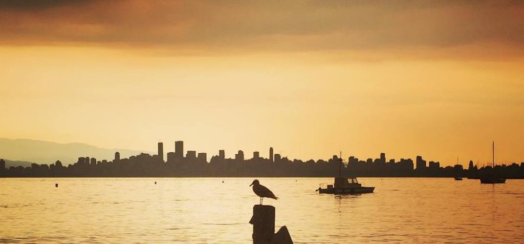 Vancouver skyline wildfire