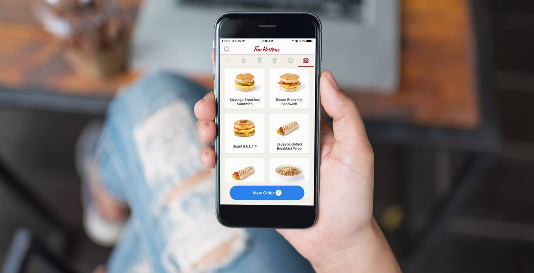 Tim Hortons mobile ordering app now available