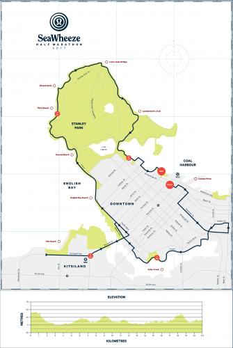 The marathon route of the SeaWheeze Half Marathon (seawheeze.com)