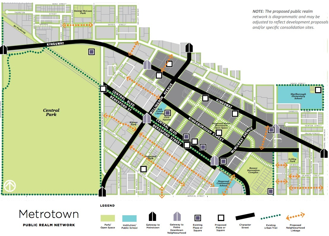 burnaby city of lougheed proposed page 26 skyscraperpage forum was posted before but this is the metrotown masterplan the mall will go with streets running through what is currently the mall