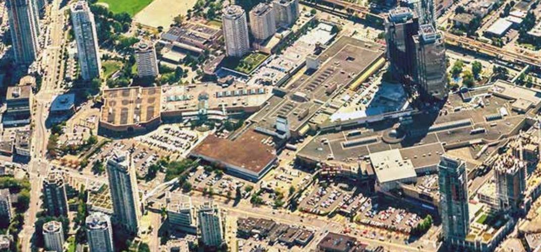 Metropolis at metrotown aerial