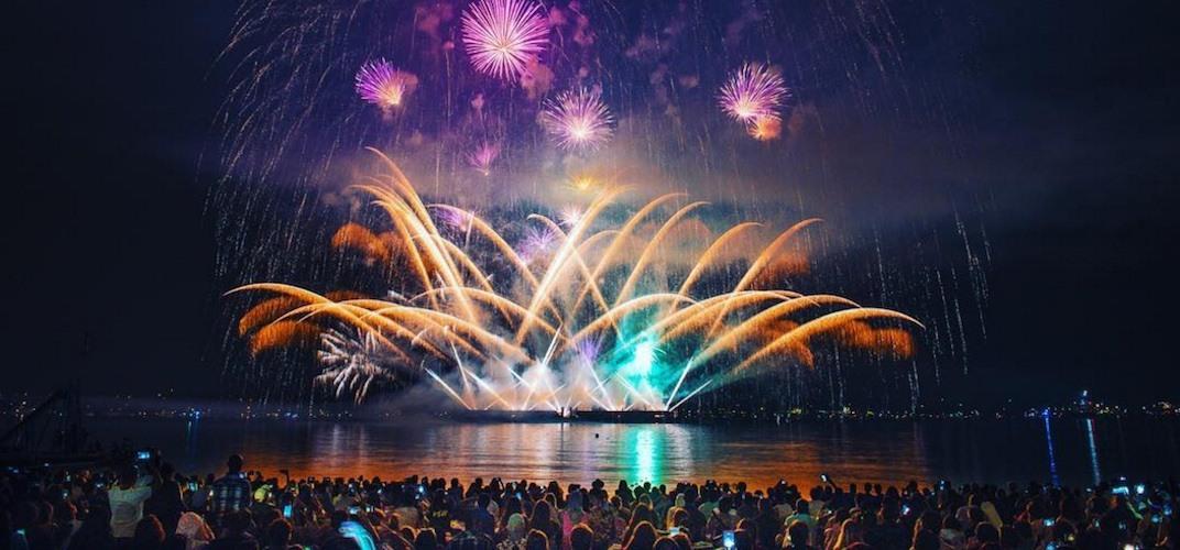 United kingdom 2017 celebration of light fireworks
