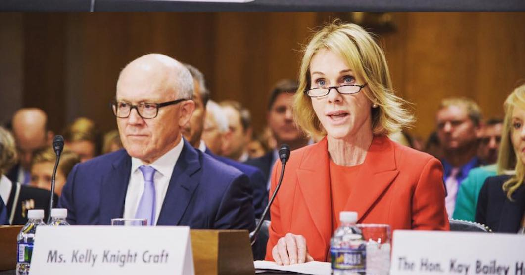 Kelly Knight Craft confirmed as US Ambassador to Canada
