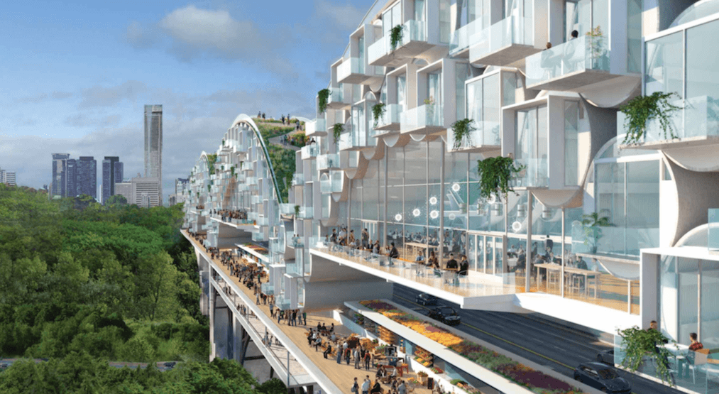 Local architect imagines Bloor Viaduct as 'Living Bridge' (RENDERINGS)