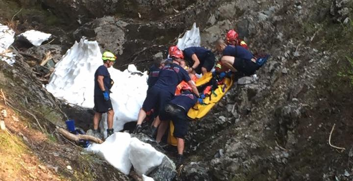 Hiker rescued after falling through snow on Howe Sound Crest Trail