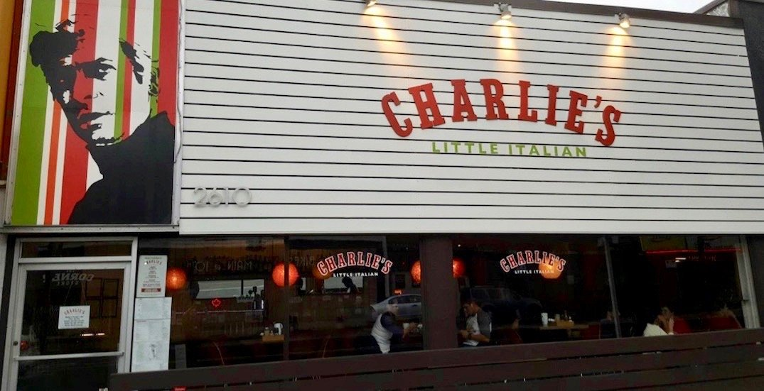 Charlie's Little Italian on Main Street is closing for good on Sunday