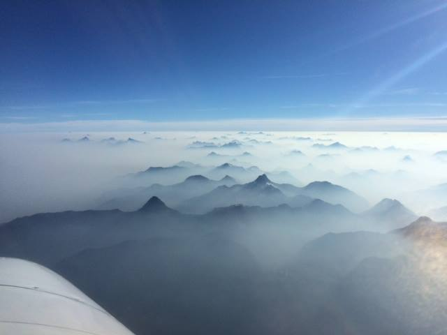 Heavy smoke from wildfires drifting across the Coast Mountain range (BC Wildfire Service/Facebook)