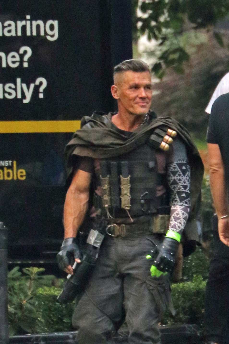 Josh Brolin on the set of Deadpool 2 in Vancouver (Ken R/Daily Hive)
