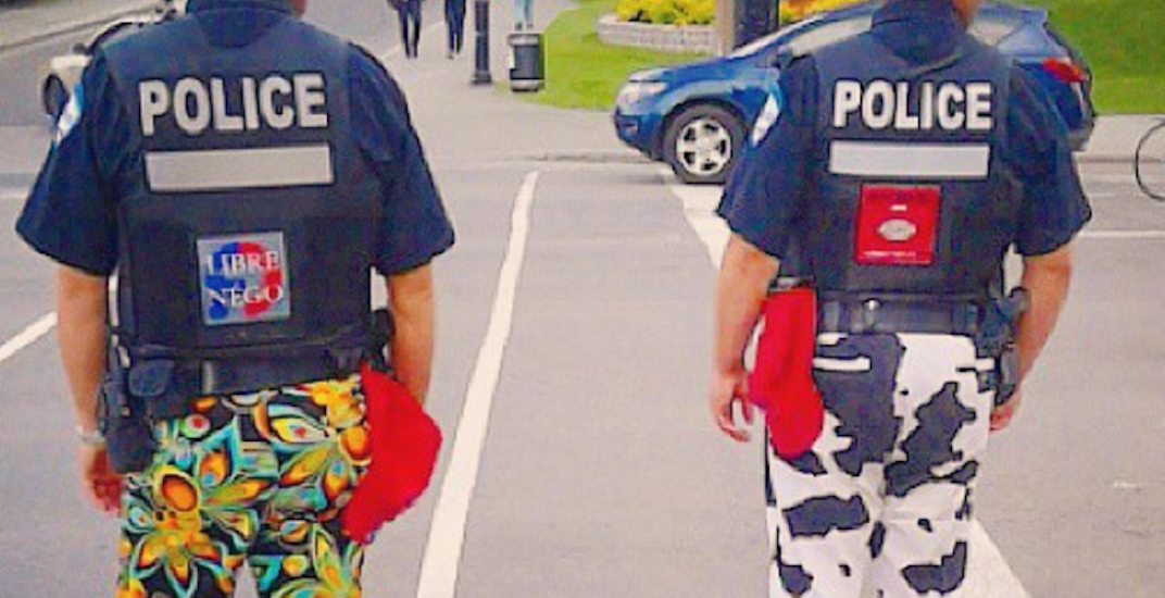 Montreal police will no longer be wearing colourful pants