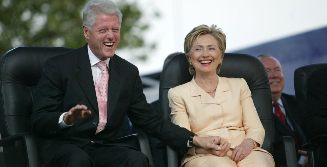 Hillary and Bill Clinton vacationing at swanky Quebec resort this week