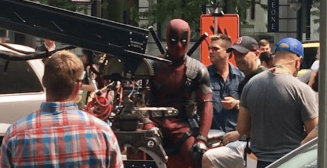 'Deadpool 2' filming draws crowd in downtown Vancouver (PHOTOS)