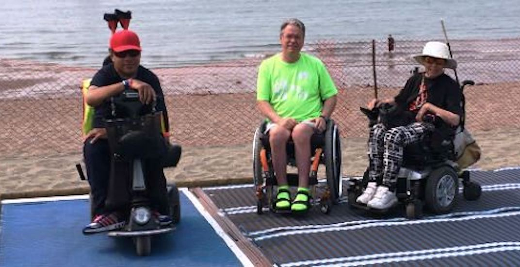 New mobile walkways let seniors and disabled access Vancouver beaches