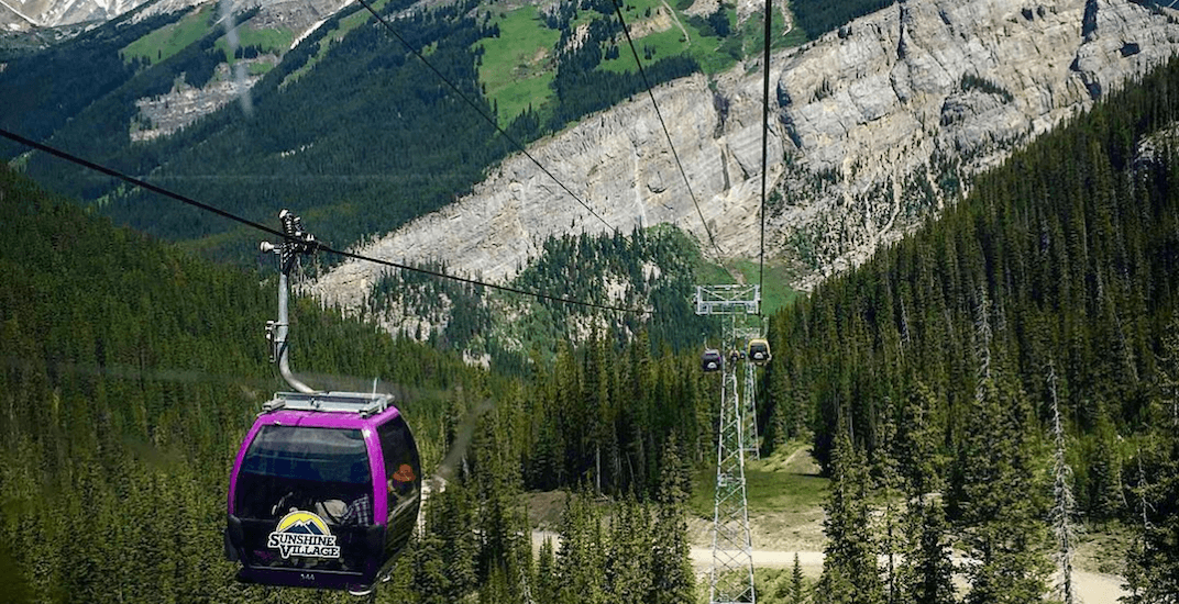 Sunshine village gondola instagram