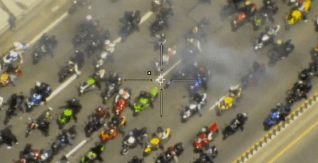 Huge motorcycle mob terrorized GTA highways over the weekend (VIDEO)