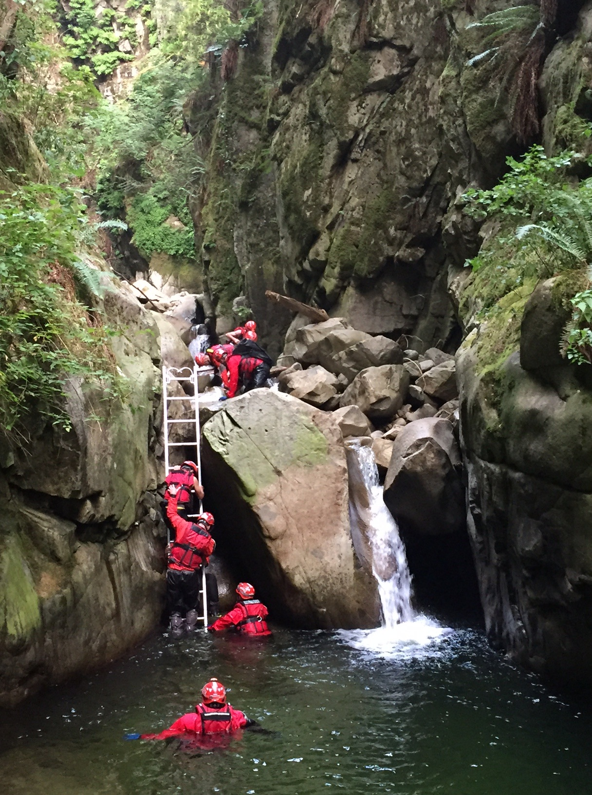 West Vancouver Fire and Rescue rescued three teenage boys near Cypress Creek (West Vancouver Fire and Rescue)