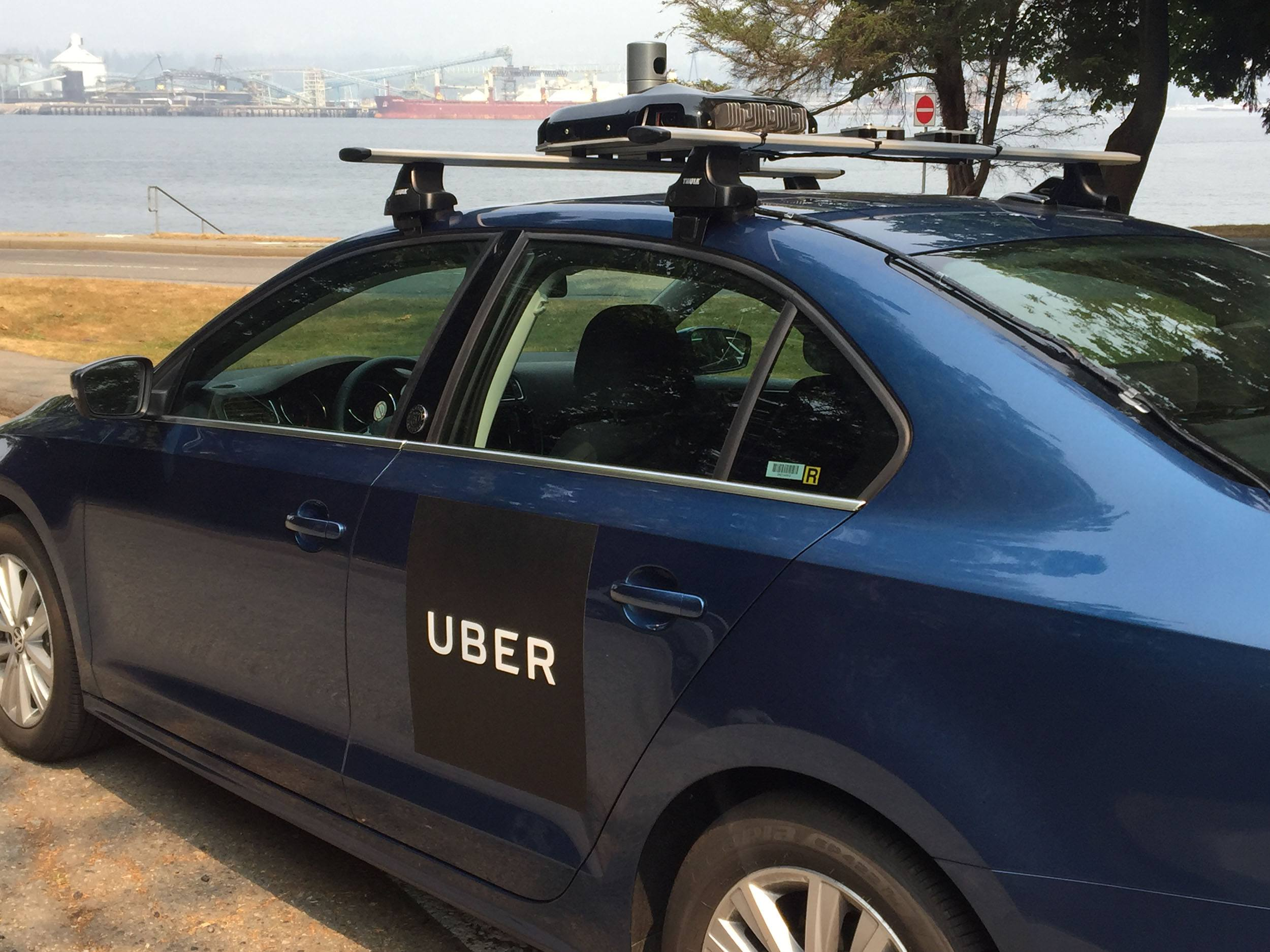 One of Uber's enhanced mapping cars in Stanley Park (Uber)