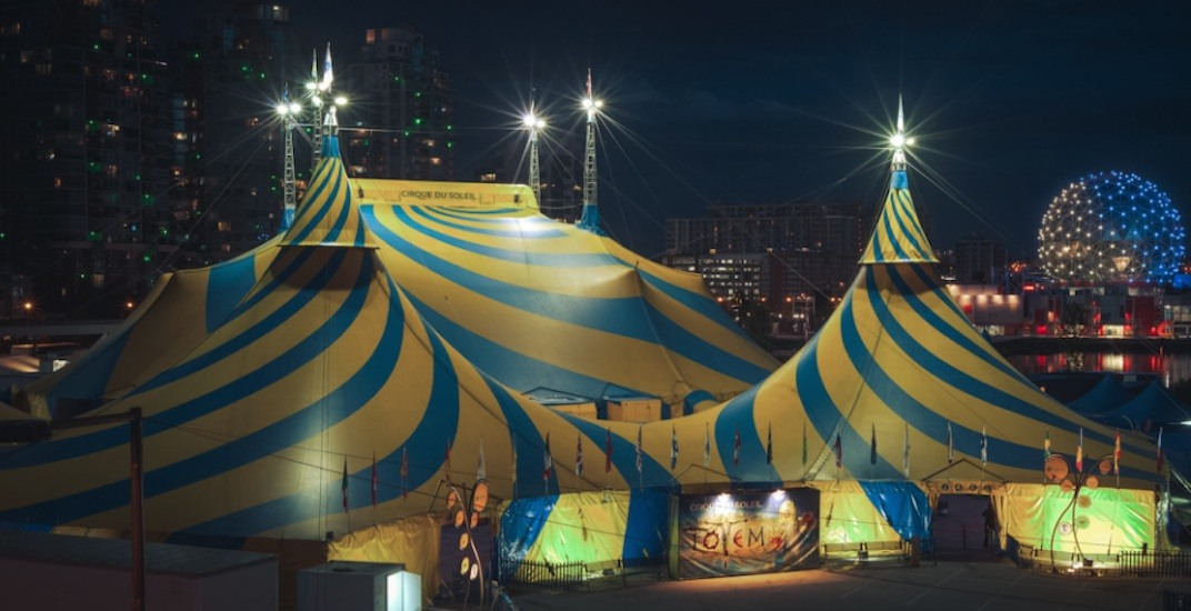 Cirque du soleil big top tent vancouver false creek