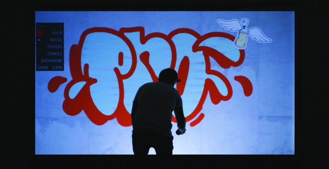 Watch this new video of Vancouver Mural Festival artists doing digital graffiti