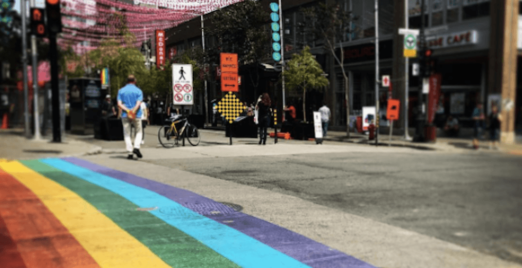 Rainbow crosswalk painted just in time for Montreal Pride (PHOTOS)