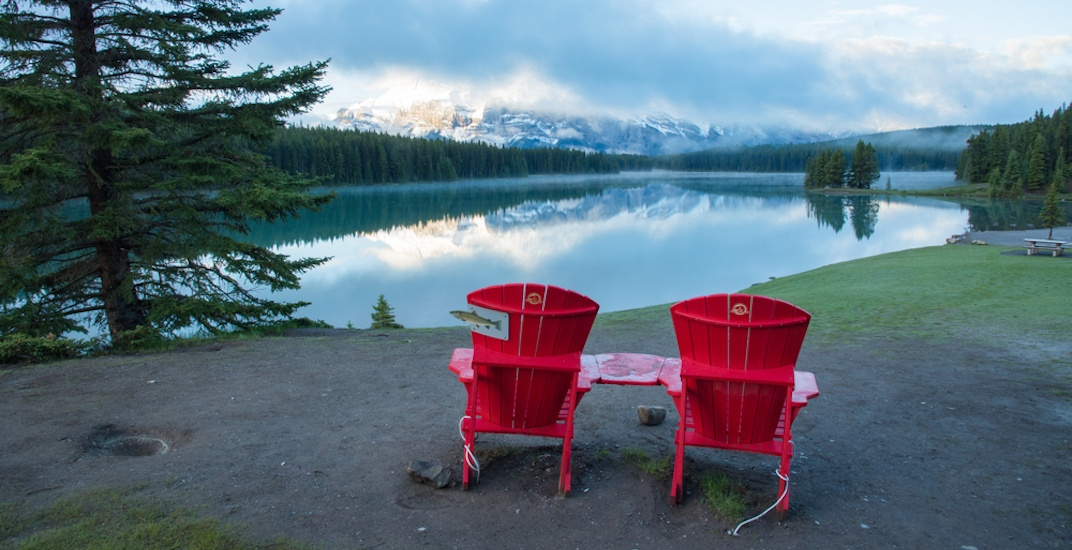 Canada 150 red chairs shutterstock