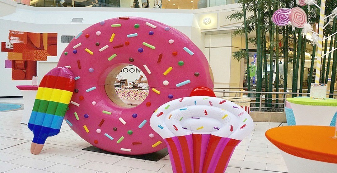 There's going to be an 8-foot doughnut and a lollipop tree at Metropolis at Metrotown (CONTEST)
