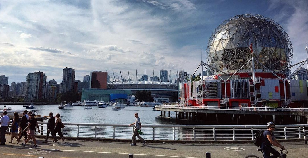 Science world false creek bc place