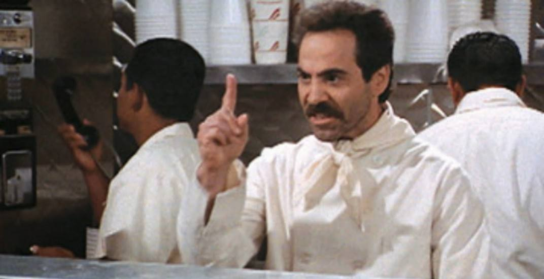 Seinfeld's 'Soup Nazi' serving in New Westminster today to support wildfire victims