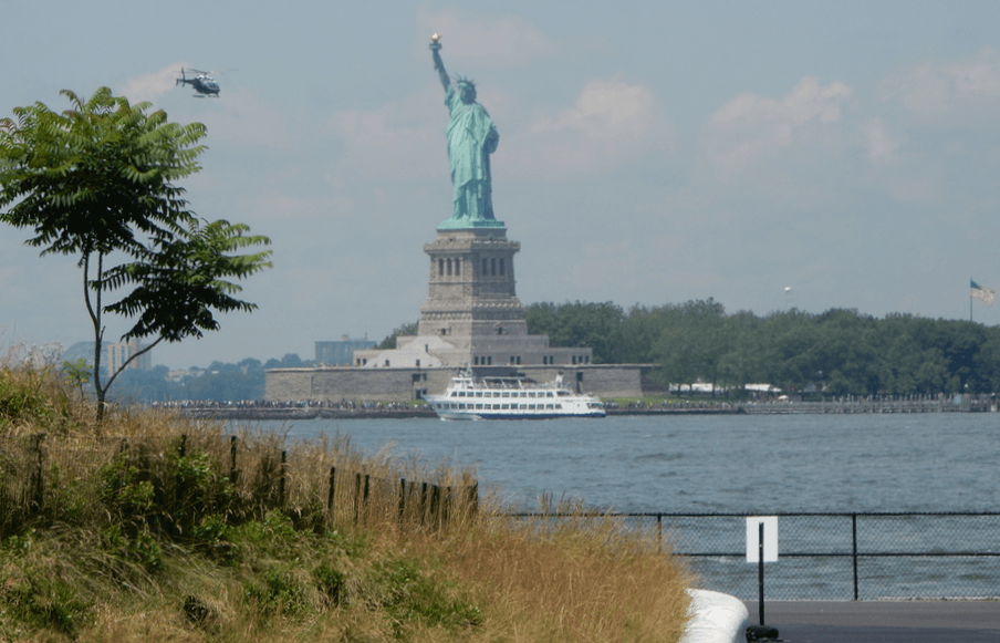 View of the Statue of Liberty from Governor's Island (Simran Singh/ Daily Hive)
