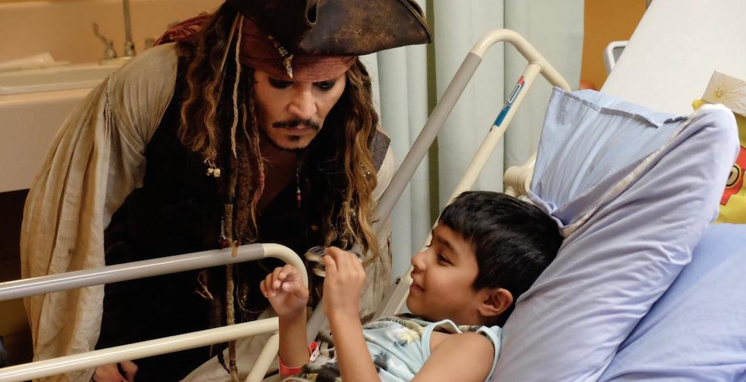 Bc childrens hospital johnny depp jack sparrow f