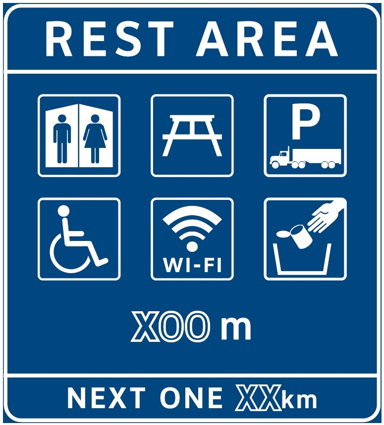 Free Wi-Fi indicated on rest-area sign (Province of BC)
