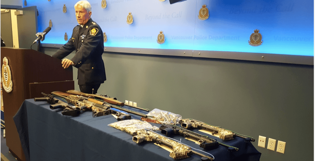 4 men charged after VPD make 'significant' drugs and firearms seizure